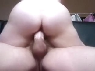 Horny wife with bulky booty is truly into having sex in cowgirl position