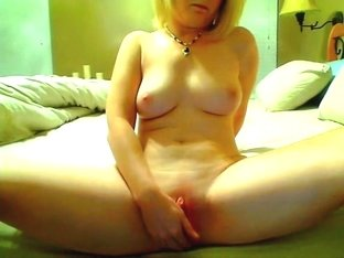 Home made porn with a masturbating blonde