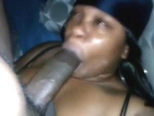 She suck his huge cock like an ice cream
