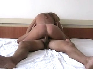 Astonishing golden-haired shows her passionate side