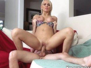 Big tittied blonde girlfriend get bang
