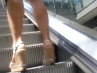 Perfect milf on platform shoes