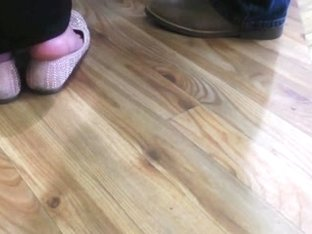 Candid Mature Dipping Shoeplay Feet