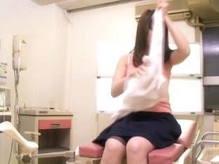 Adorable Jap teen gets creampied well during medical exam