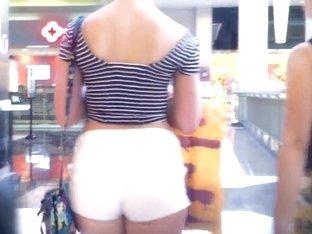 red head cheeky shorts