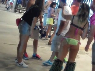 Chicks in skimpy cloths at music festival