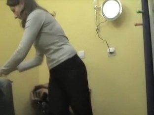 Amateur caught on spy cam before going to solarium