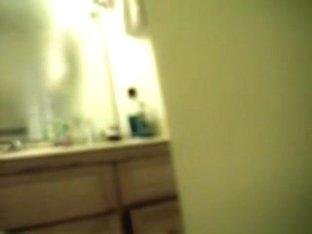 Doll waving her soft booty on hidden shower camera