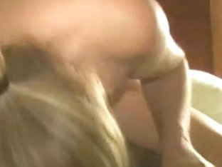 Dirty horny blonde riding a big black guy in the bedroom