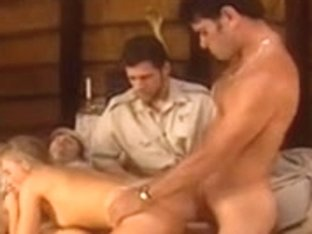 Foursome in an African hut