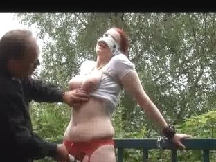 No mercy for red haired subbie as she is bound and bought to orgasm after orgasm