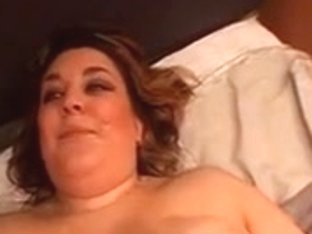 Chunky woman in nylons moist in cum