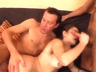 Valuable Hirsute French Angel Screwed by two Boys