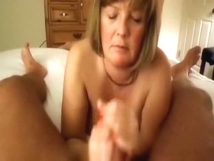 Mature wife blowing him off