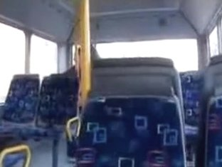 Spying Web Camera Recorder In The Bus Caught Non-Professional Pair Fucking