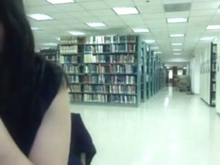Oriental hotty getting nude on cam in public library pt. two