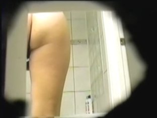 Girl after shower shows bushy nub and puts on panty