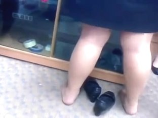 Candid Nylon Feet Legs Shoeplay at Graduation
