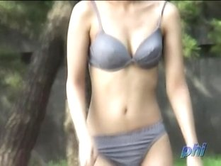 Bikini sharking experience with vocal brunette being seriously surprised