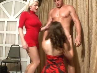 Group sex in front of their party friends
