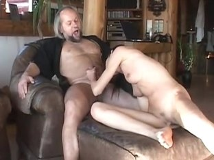 Teen minx suck and fuck an old cock
