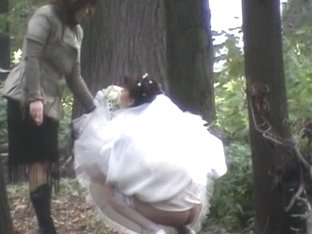 Caught my bride and her friend leaking her cunt
