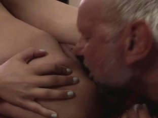 Kitty Rich likes to finger grandad's ass
