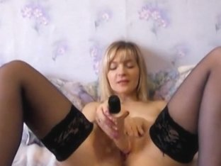 Slutty Milf Elizaveta Fucks Herself In The Pussy And Ass With Thick Dildos In This Hacked Webcam S.