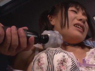 Marie Konishi sexy Asian teen in school uniform in bondage sex