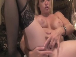 Wild masturbation on the bed
