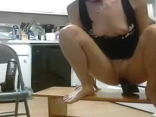 Amateur fetish porn clip with my brand new big dildos
