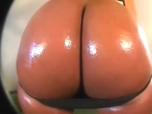 Big and adorable ebony ass greased up for the clip scene