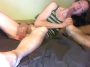 Rod engulfing whore acquires her face of cum.