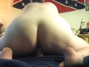 Riding the littler one and loving it cumming all over it