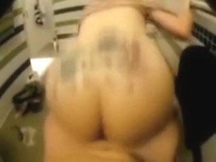 Nasty girl with tattoo on her ass likes getting pounded from behind