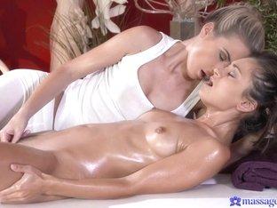 Fabulous pornstars Shrima Malati, Vinna Reed, Cristin Caitlin in Exotic Massage, Lesbian porn clip