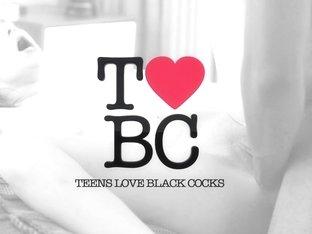 TeensLoveBlackCocks -   Petite Teen Rubbed Down by Big Black Cock
