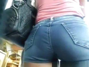 Perfect Teen butt in shorts