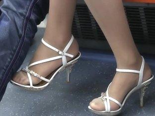 Incredibly Sexy Teen In Sheer Nylons Feet