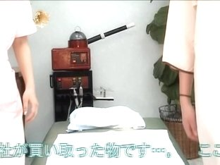 Spy cam shows a naked Japanese babe receiving a massage