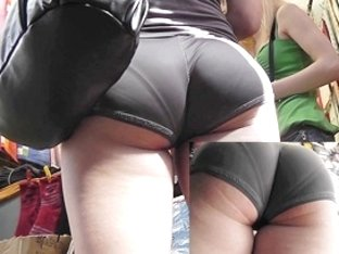 Very palatable ass in constricted sexy panties