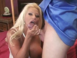 Adorable blonde pornstar JR Carrington fucks with strong Mark Wood