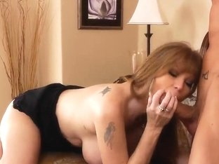 Busty Darla Crane gets her shaved pussy worked up