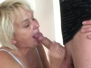 Sexy 3some with old golden-haired