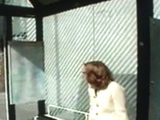 Shaggy redhead legal age teenager flashing in public - N. C.