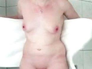 German redhead showering