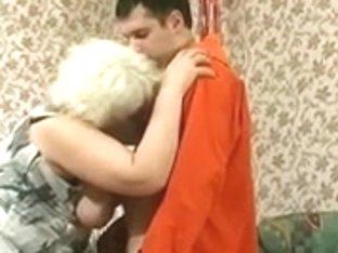 Immoral Blond Granny Seduces Shlong