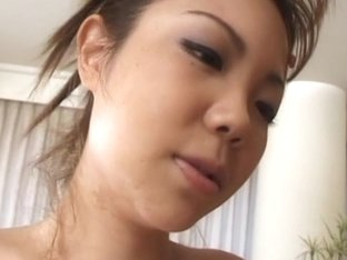 Cutie Japanese babe finger played then ride her man's prick