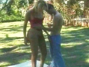 Furious Condom Sex Outdoor
