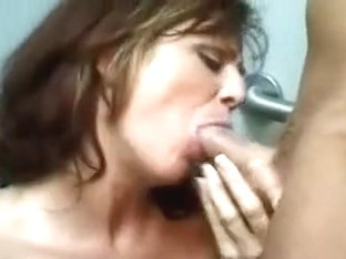 Older dark brown is hungry for cum